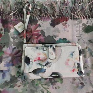 Brand New Indigo Floral Scarf & a Floral Wallet